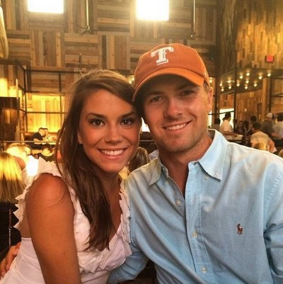 Annie Verret with Jordan Spieth