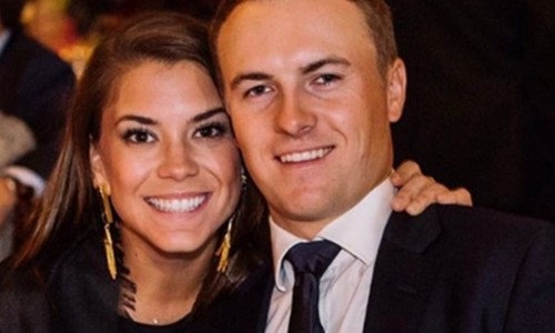 Annie Verret with husband Jordan Spieth