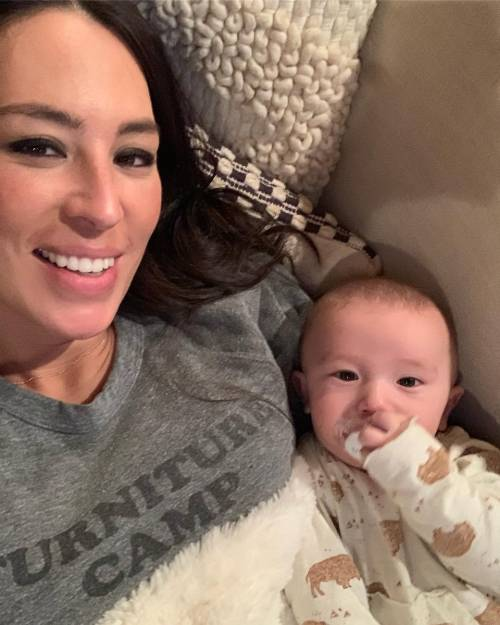 Joanna Gaines with her baby