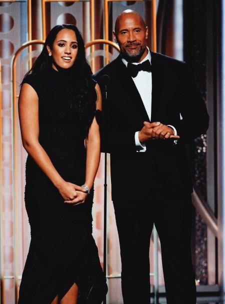 Simone Alexandra Johnson  with Father Dwayne Johnson