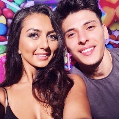 Ebziie with Boyfriend Uosof Ahmadi