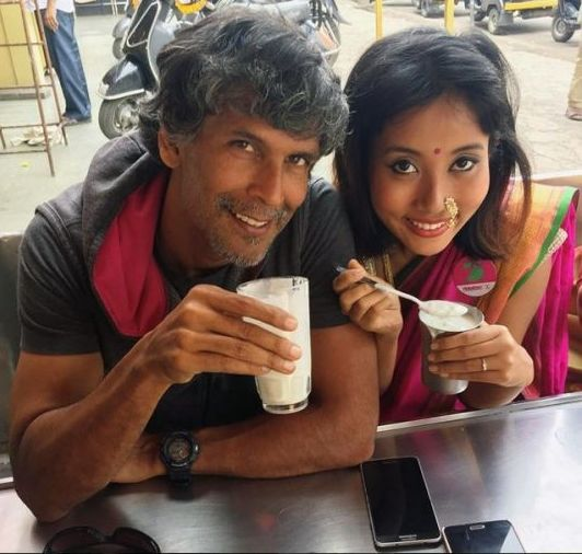 Ankita Konwar With Milind Soman