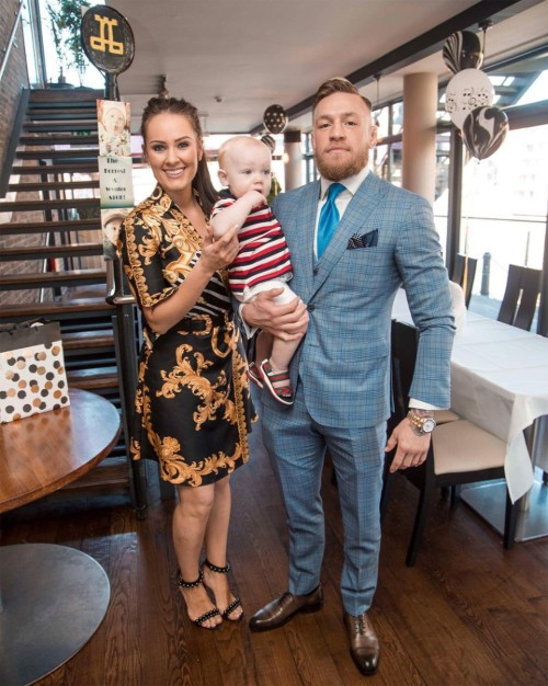 Conor Mcgregor with Wife and Kid