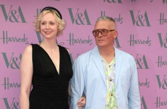 Giles Deacon with girlfriend Gwendoline Christie.