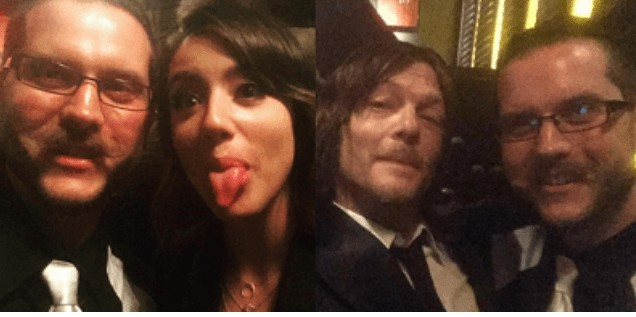 James with Chloe Bennet and Norman Reedus at The Walking Dead Season 6 Premiere, October 12, 2015.