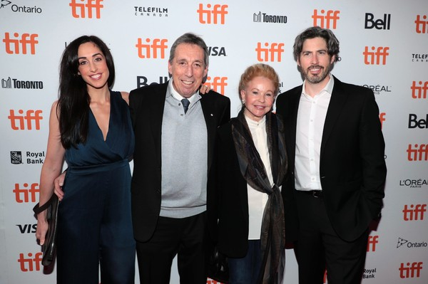 Jason Reitman with Sister Catherine Reitman, Father Ivan Reitman, Mother Geneviève Robert