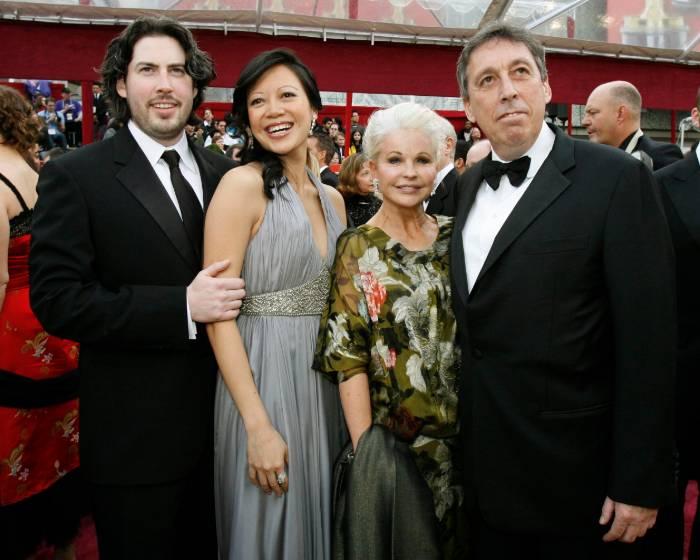 Jason Reitman with his wife Michele Lee, father Ivan Reitman and mother Genevieve Reitman