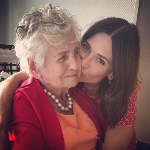 Karolina Wydra with granmother
