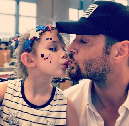 Justice Jay Ackles with Father Danneel Ackles