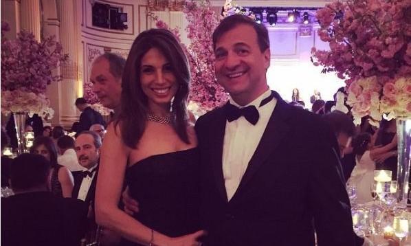 Nicole Petallides with Husband Nicholas Tsiolas