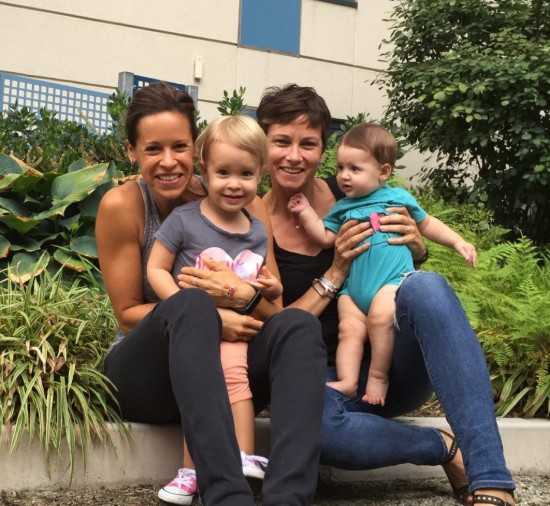 Stephanie Gosk and Jenna Wolfe with Daughter's