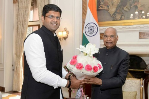 Dushyant Chautala With President of india shri ramnath kovind