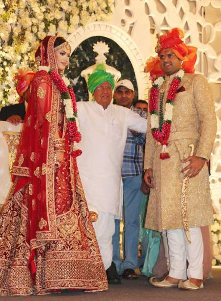 Dushyant Chautala and wife Megahana Chautala Wedding image