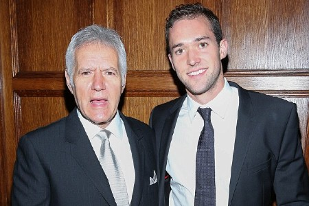 Matthew with father Alex Trebek