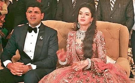 Meghna-Chautala-with-Husband-Dushyant-Chautala-1