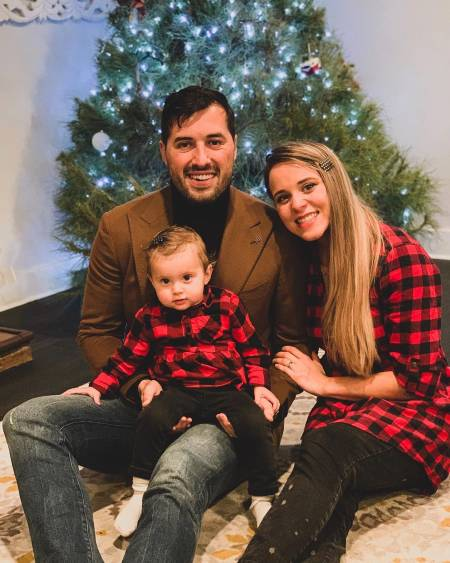 Jinger Duggar with Husband Jeremy Vuolo and baby