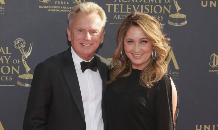 Pat Sajak and Lesly Brown