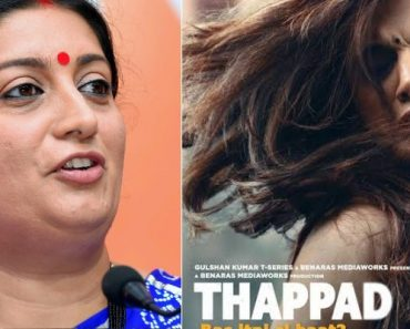 Smriti Irani Gives upcoming movie ' Thappad ' to Taapsee Pannu's Biggest Shout-Out