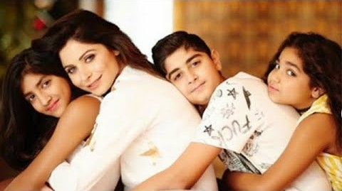 Kanika Kapoor with her children, Aayana, Samara, and Yuvraaj