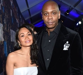 Dave Chappelle with his wife, Elaine Chappelle.