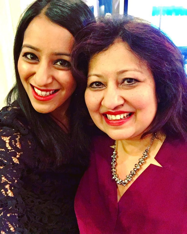 Sabrina Siddiqui with-her mother