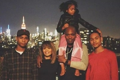Sulayman Chappelle with his parents and siblings.