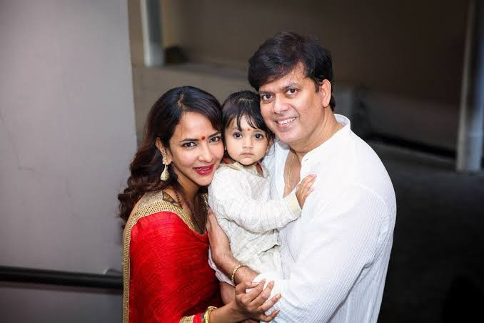 Manchu Lakshmi with her Husband Andy Srinivasan and Daughter