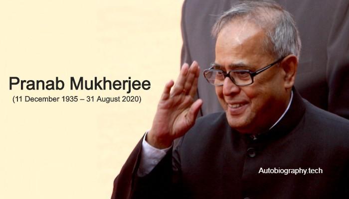 Pranab Mukherjee Biography