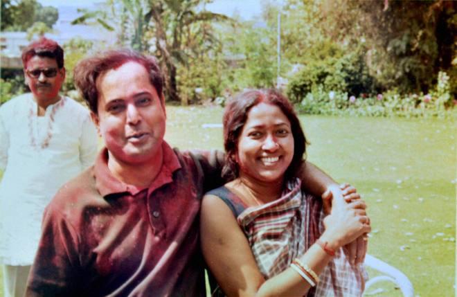 Pranab Mukherjee with wife