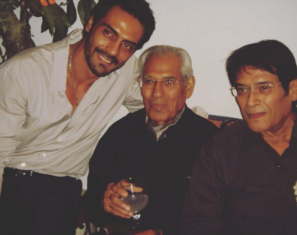 Arjun Rampal with his Father Amarjeet Rampal, and Grandfather Arjun Rampal.