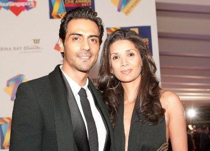 Arjun-Rampal-with-his-wife-Mehr-Jesia