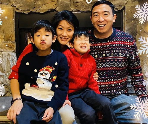 Andrew Yang with Wife and Kids
