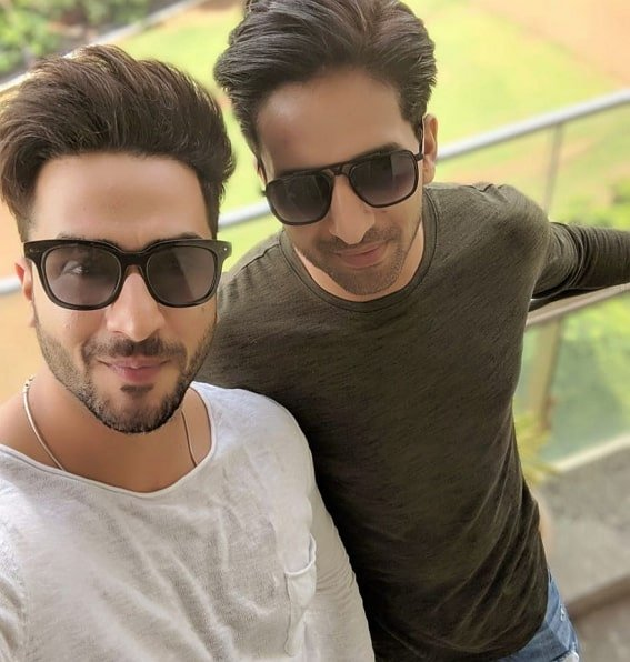 Aly Goni with Brother