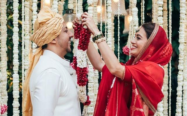 Dia Mirza and businessman Vaibhav Rekhi get married