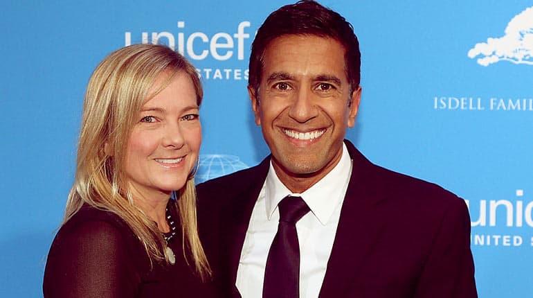 Sanjay Gupta with Wife Rebecca Olson Gupta